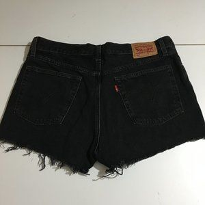 Levi's Womens Black Button Fly Denim Shorts Sz 30